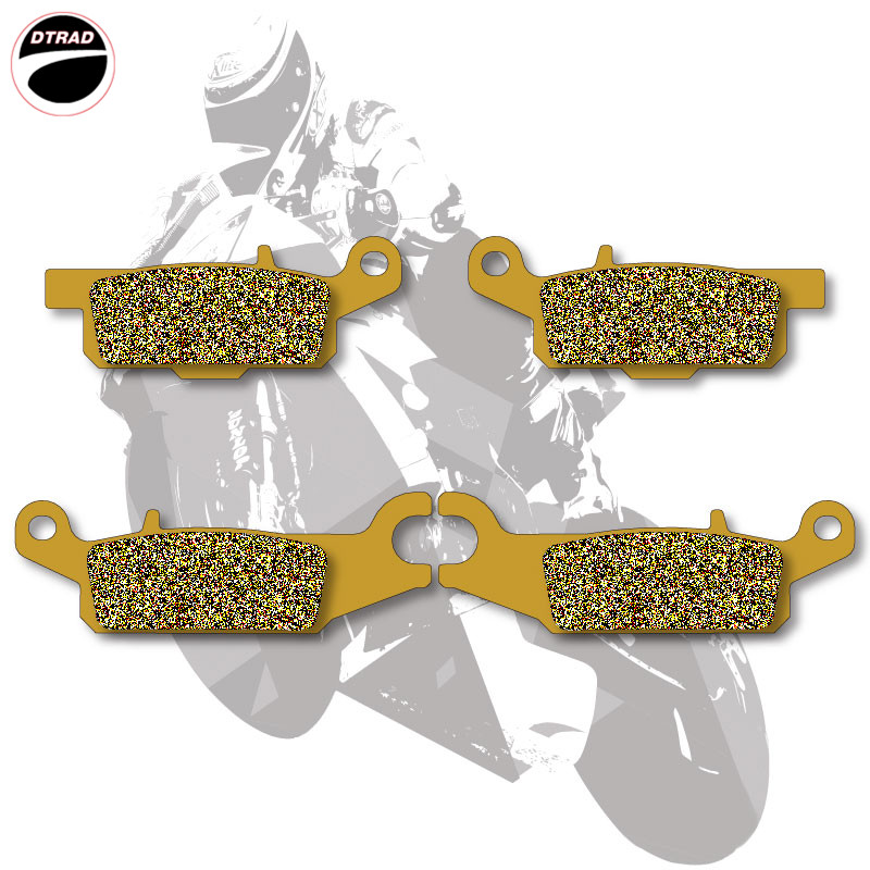 Motorcycle Brake Pads Front For YAMAHA ATV RAPTOR 250 08-13 GRIZZLY 550 09-15 GRIZZLY 700 07-15  Ed YFM 700 07-09<br>