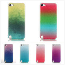 Bling Glitter Gradient IMD Case For ipod touch 5 6 TPU Silicon Soft Back Cover Ultra Thin Phone Shell For ipod touch 6