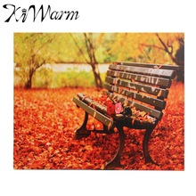 "KiWarm Durable 20"" LED Light Chair Maple Leaf Fall Autumn Canvas Painting For Home Room Hotel Decoration Gifts Art Sets 50*40cm"