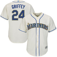 MLB Men's Seattle Mariners Ken Griffey Jr. Baseball Alternate Cream Official Cool Base Replica Player Jersey