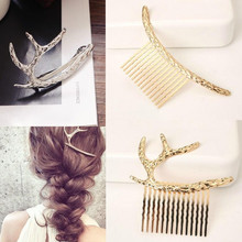 Free shipping! wholesale shine fairy crown metal Girl Hairpin women Hair Accessories Headwear Christmas's nice gift comb(China)