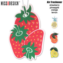 MISSUDESIGN CAF3 Hanging Paper Auto Perfume for Home and Boat Lasting Fragrance Strawberry and Fruit Scent Car Air Freshener(China)