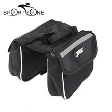 High Quality Cycling Bicycle Bike Top Frame Front Pannier Saddle Tube Bag Double Pouch(China)