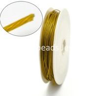 DoreenBeads Gold color Steel Beading Wire 1mm, sold per lot of 1 roll(7.5M) (B16255), yiwu