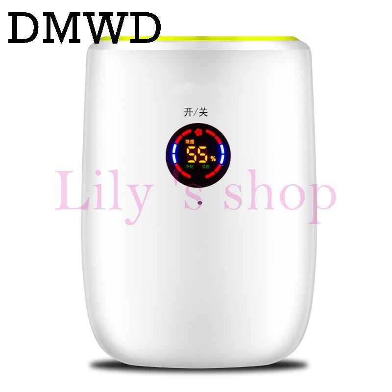 DMWD Portable electric dehumidifier Mini Moisture Absorbing Air Dryer LED display Auto-off Dehumidifiers Air Purifier 110V 220V<br>