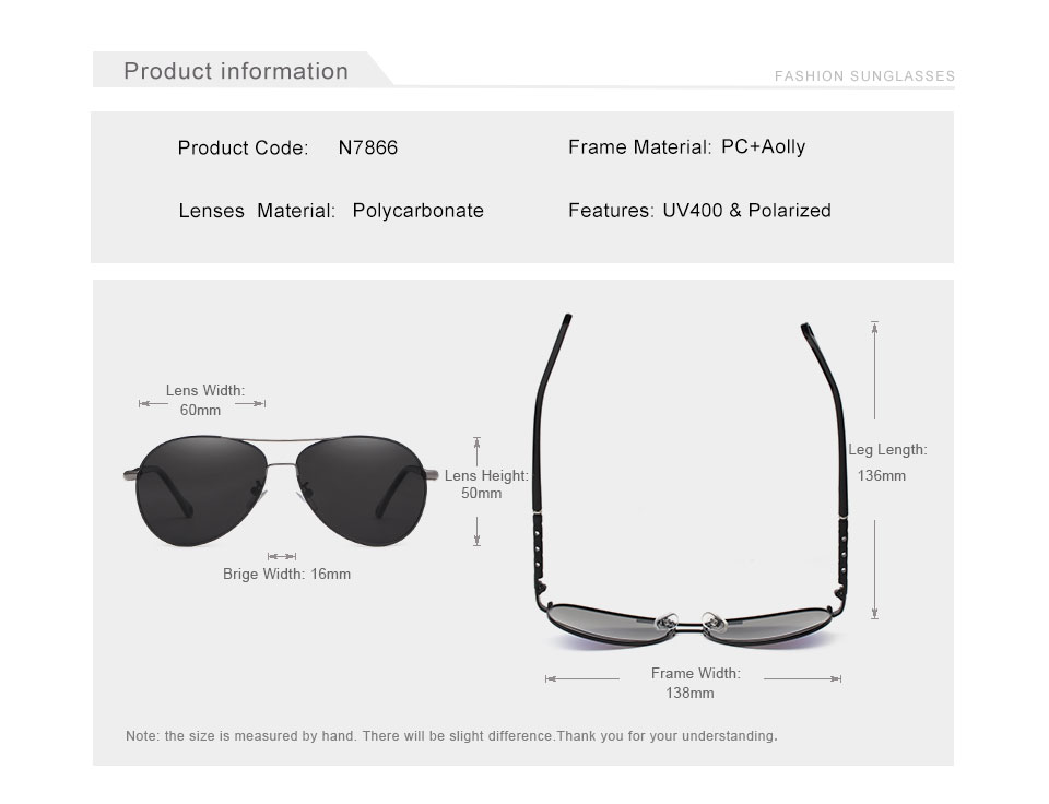 Unisex Pilot Mirror Sunglasses N7866