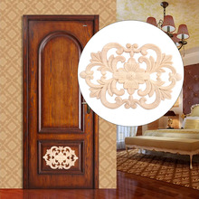 1Pc New Design Wood Carved Onlay Applique Unpainted Furniture for Home Door Cabinet Decoration