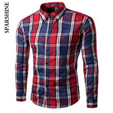 2017 mens plaid shirt Chemise Homme Brand Long Sleeve Office Shirt Men Camisa Masculina Korean Formal Casual Male Dress Shirt