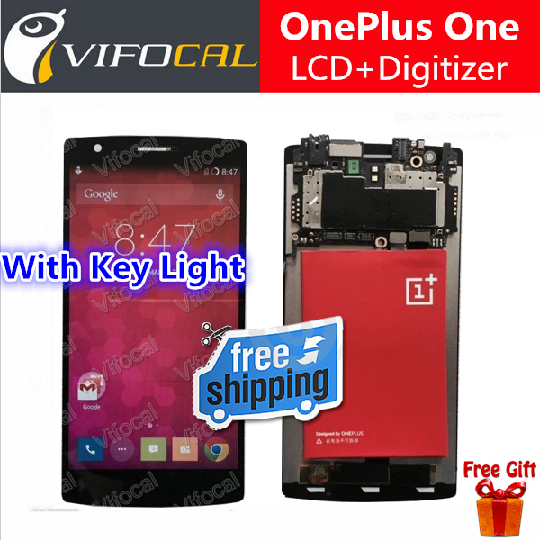 One plus One LCD Display + Touch Screen Digitizer With Key light 100% New Assembly Replacement For Oneplus Mobile Phone<br><br>Aliexpress