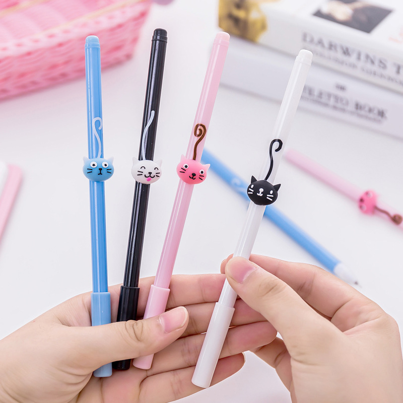 0.5mm kawaii Flamingos Unicorn Cat Gel Pen Signature Pen Escolar Papelaria Office Stationery School Supplies Promotional Gift