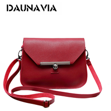 Buy Small Women Messenger Bag Simple Designer PU Leather Crossbody Bag Ladies Lock Flap Female for $6.99 in AliExpress store