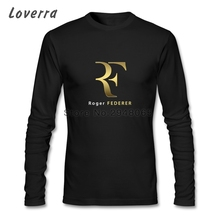 Roger Federer T-Shirt Homme Crossfit Brand Clothing O-Neck Cotton Jersey Long Sleeve Men Tee Shirt Fitness Hip Hop TShirt Man(China)