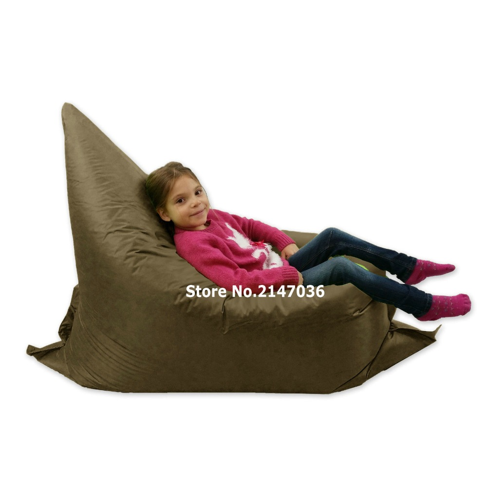 Brown waterproof outdoor Children junior bean bag chair<br>