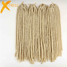 "20"" Dreadlocks Crochet Braids #613 Blonde Kanekalon Synthetic Braiding Hair 20strands/pack Dread Hairstyle Hair Extensions"