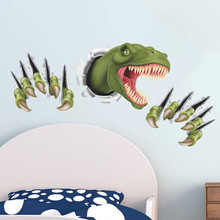 3D Three-Dimensional Explosion Models Dinosaur Wall Mural Stickers Bedroom Background Wall Sticker Foreign Trade