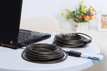 Free Shipping High speed active 65ft 20M USB 2.0 extension cable male to female with 2 IC Signal Boost USB Cable