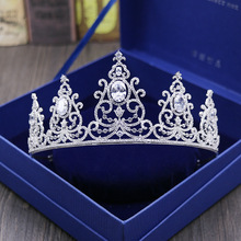 Luxury Silver Rhinestone Wedding Diamante Pageant Tiaras Hairband Crystal Bridal Crowns For Brides Hair Jewelry Headpiece HG619
