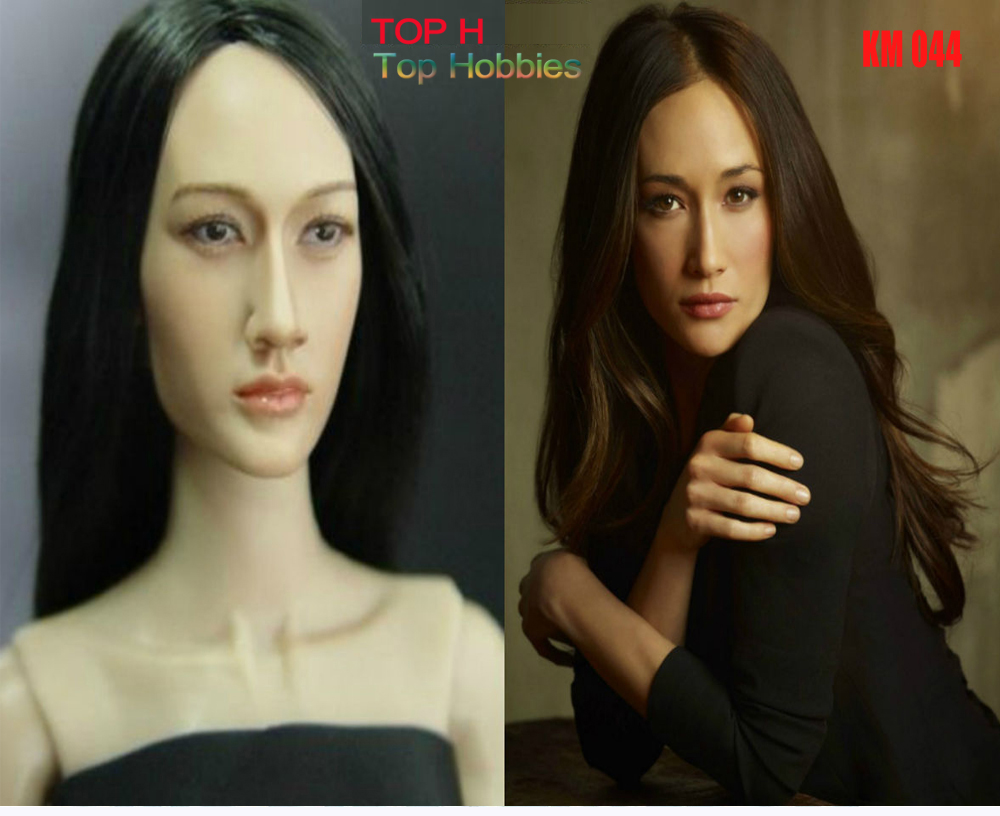 KUMIK 044 Maggie Q Nikita 1/6 Head Sculpt Model For 12 Inch Phicen Hot Toys/Jodoll/Kumik Female Girl Body Action Figure<br>