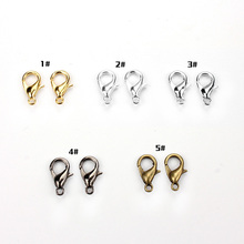 20pcs/lot  10mm New Fashion Jewelry Clasps Alloy bronze/gold/gunblack/rhodium/silver Lobster clasp Jewely Findings