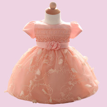2017 Quality of Foreign Trade Children's Clothing Baby 0-2 Years Old Photography Dress Princess Dress Lace Flower Dress(China)