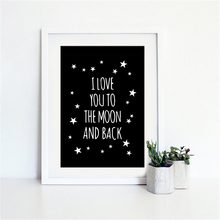 Haochu Nordic Mural Prints Romantic Love Quote DIY Canvas Art Painting No Frame Black and White Paper Fine Office Home Ornaments
