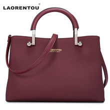 LAORENTOU Designer Bags Famous Brand Women 2016 Casual Soft Luxury Fashion Shoulder Cowhide Leather Bag N4 - official store