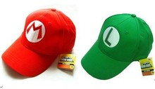 Free Shipping 2pcs Set Super Mario Bros Baseball Cap Anime Cosplay hat Costume caps Mario+Luigi(China)
