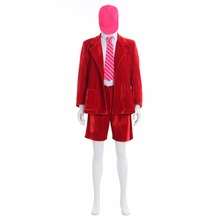 Superstar AC/DC Band Angus Young School Boy Outfit Cosplay Costume Red Jacket Coat Short Pants  White Shirt Full Set L0516
