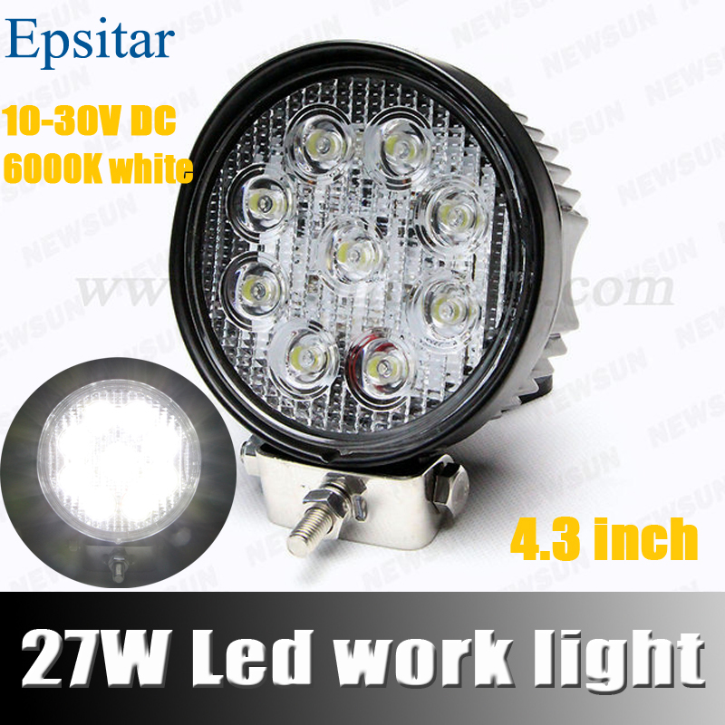 1 Pcs 4 inch 27W LED Work Light Work Lamp 4x4 Offroad Driving Light Tractor Motorcycle Off Road Headlight External Light<br><br>Aliexpress