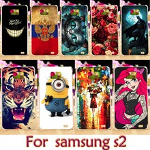 AKABEILA Soft TPU Hard Plastic Phone Case For Samsung Galaxy SII I9100 4.3 inch S2 GT-I9100 Case For samsung i9100 Cover Housing(China)