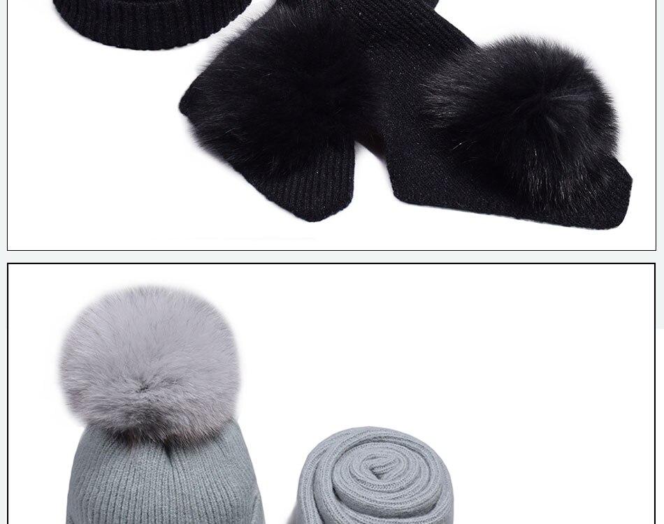 قبعة ووشاح للفتيات 18