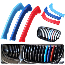 Mayitr Multi-Color 3D Car Styling Front Grille Clip Sport Stripe Cover for BMW E90 E91 LCI 2009-2012 Motorsport Stickers