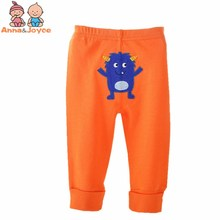 1 Pc Baby PP Pants 0-24 Months Baby Boy Female Baby Boys Girls Cotton Cartoon Solid Soft Trousers(China)