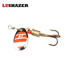 LUSHAZER Fishing spinner bait 2.5-4.5g spoon lure metal baits treble hook isca artificial fish wobbler feeder carp spinnerbait