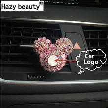 Hazy beauty car logo outlet air conditioner perfume clip message car logo Car-styling Air Freshener Perfumes 100 Original(China)