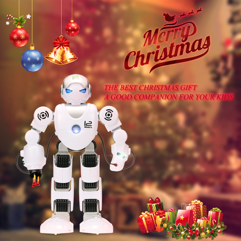 LE NENG TOYS K1 Intelligent Programmable Humaniod 2.4G Remote Control Robot with Shoot Music Dance Arm-swing Function(China)