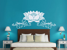 Lotus Flower Wall Stickers Removable Interior Houseawre Bedroom Vinyl Decal Art Mural Beautiful Lotus PVC Design Home SelfSYY307(China)