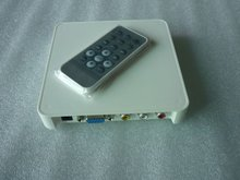 Gift&Free shipping! Adverting player box with VGA/AV out SD/MMC USB media player TV Card player Auto play Remote control