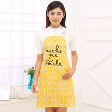 1PC Star point ripple style Linen Apron Printed Letter Apron Cooking Aprons With Pocket Dining Room BBQ Restaurant Kitchen tools(China)