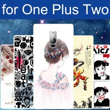 New One plus Two phone cover protective case oneplus 2 thin soft TPU Rubber Back Style Fashion Print Photo Pouch Bags Discount