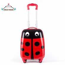 "16"" Cartoon Cute Travel Trolley Case Rolling Mini Luggage bags Suitcase with Wheels for Children(China)"