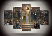 5 Pieces/set Classic Paintings Jesus Returns to Earth Group Painting Decor Print Poster Picture for Living Room Unframed(China)