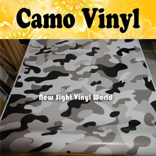 JUMBO SNOW Camouflage Vinyl Car Wrap Camo Film Sheet Roll Arctic Urban Camouflage Vinyl Film Bubble Free Size:1.50*30m/Roll
