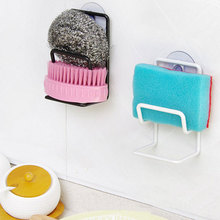 New Arrival Sink Draining Brush Sponge Cleaning Cloth Towel Rack Washing Holder Kitchen Tidy Stand #79738