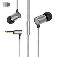 Doosl 3.5mm HiFi Metal In-Ear Earphone Super Bass Noise Isolating Earbud Ergonomic Comfort-Fit Dynamic Earphone with 1.2M Cable
