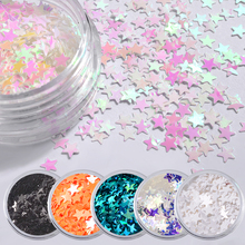 6pcs/set Symphony AB Nail Glitter Sequins Sparkling Stars 3d Colorful Nail Flakes Sticker Tips Paillettes Manicure Decorations(China)