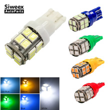4 x T10 LED White/Blue/Yellow(amber)/Green/Ice Blue/Red DC 12V 20SMD 2835 W5W Car Side Marker lights map lamp bulb(China)