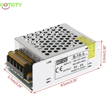 AC 100-260V To DC 5V 3A 15W Switch Power Supply Driver Adapter LED Strip Light  828 Promotion