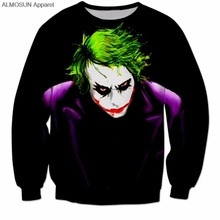 ALMOSUN Joker DC 3D All Over Print Crewneck Pullover Sweatshirts Hipster Cool Streetwear Casual Jumper Men