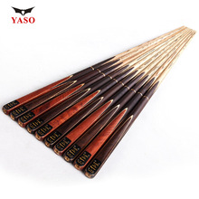 Brand YASO Billiard pool Cue, Cue tip 10mm, 145cm, Ash wood, Handmade 3/4 Snooker stick, High Quality, Free shipping